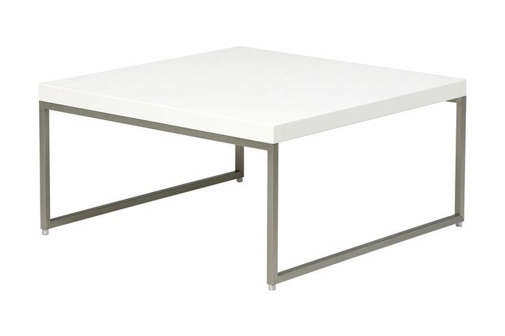 Firenze Soffbord Vit/stål 80X80Cm - Chilli