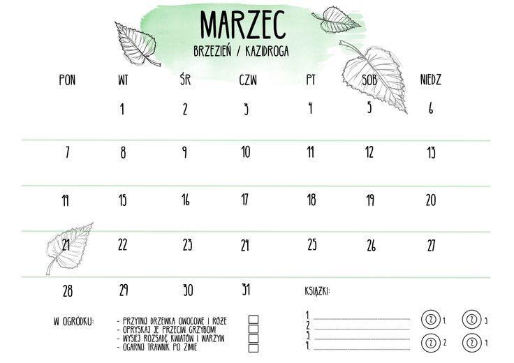 #marzec #march #kalendarz #calendar #gryzmoU