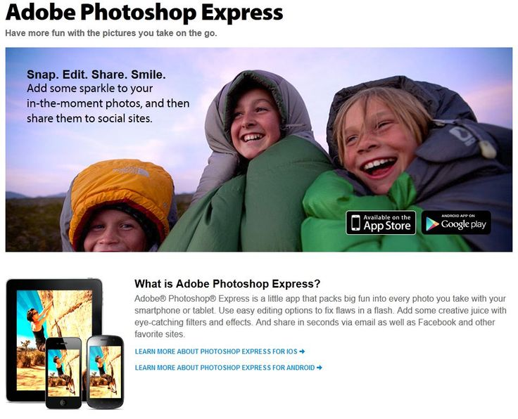 iPhone Picture Editor App Adobe Photoshop Express - A simple yet powerful picture editor app for iPhone and Android | Learn How To Take Better Pictures |