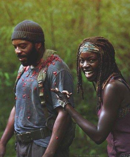 Chad Coleman & Danai Gurira sur le tournage « Isolation » [Photo du jour]