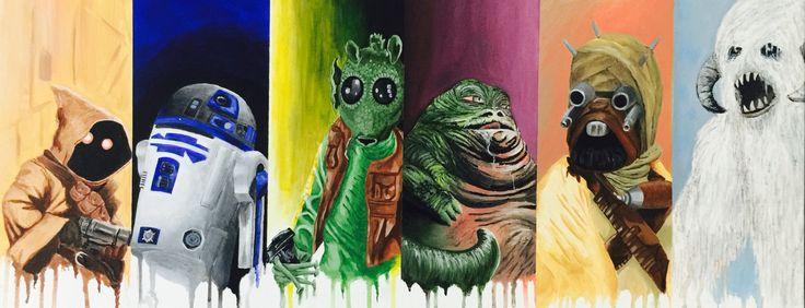 Star Wars acrylic painting #2