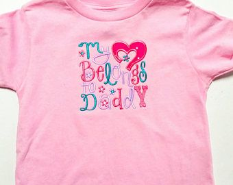 Check out Daddy's Girl Shirt - I Love Daddy - Daughter Daddy Gift - Daddy To Be Gift - My Heart Belongs To - Baby Shower Gift - Embroidered Shirt on sweetbabycakesbows