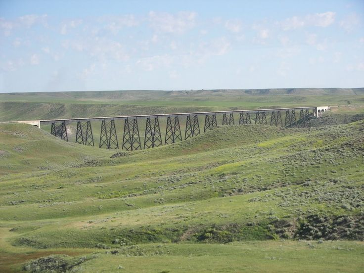 Sage Creek Trestle on Former Milwaukee Road Northern Montana Line June 2006