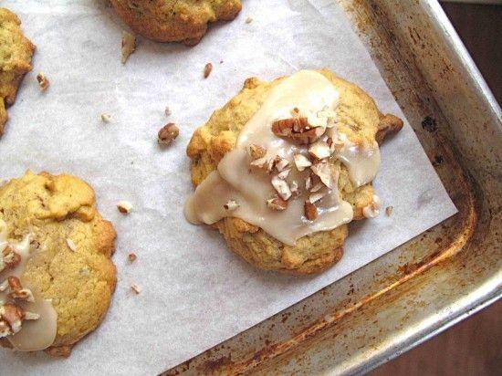 Iced Pumpkin Cookies #cookies #pumpkin