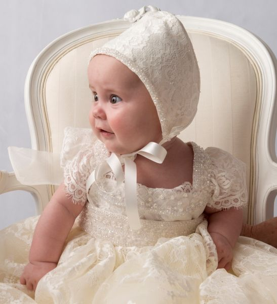 165 best BABIES IN LACE images on Pinterest | Christening dresses ...