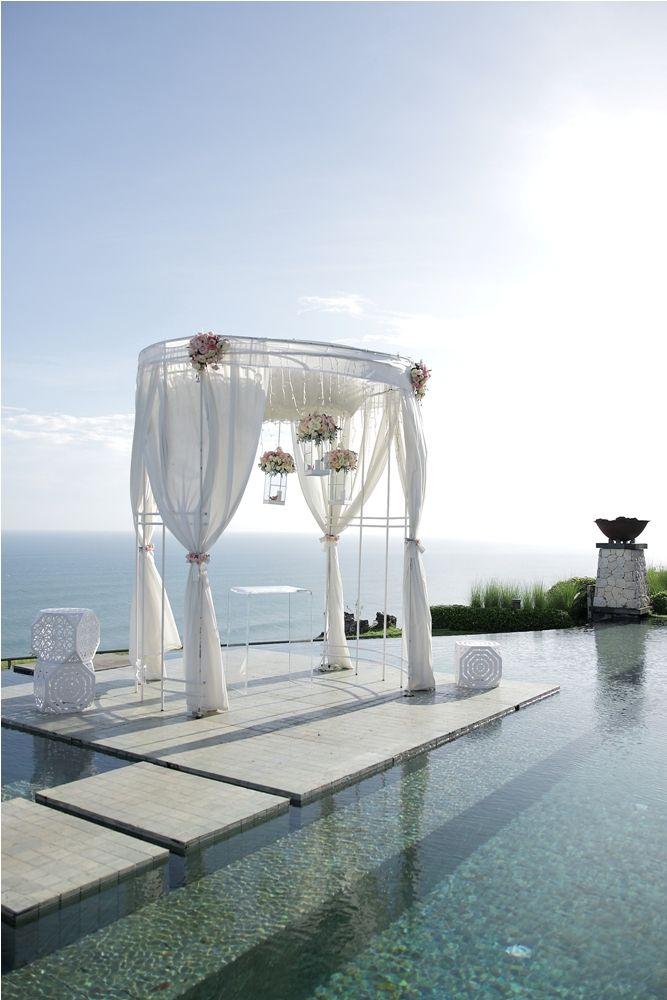 Canopy on the Floating Stage by Tirtha Bridal Uluwatu Bali