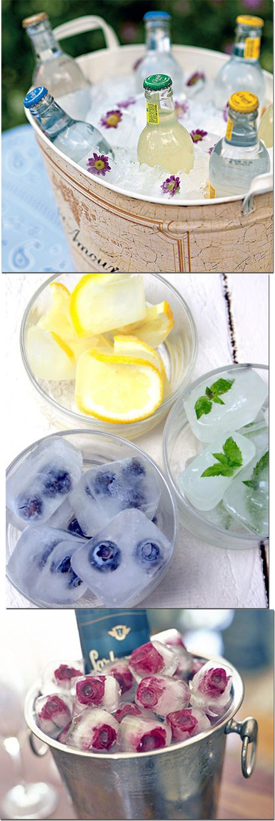 Flavoured ice cubes to add a tinge of fruity taste to one's water or beverages                                                                                                                                                      More