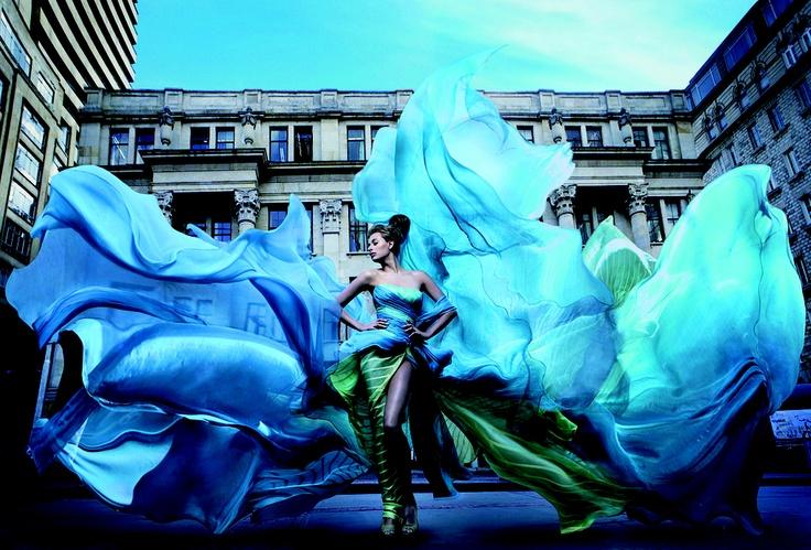 Raul Higuera, Aqua (Blue Dress), archival chromogenic print, 2011.