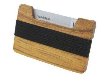 Exklusives Portmonee aus Massivholz  Für Kreditkarten von WoodBi