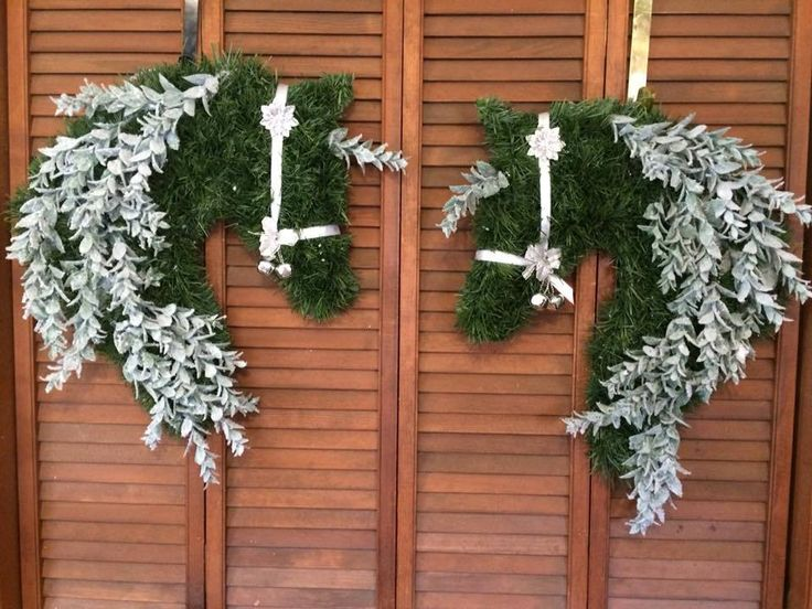 Horse Head Wreath Doorkeeper set