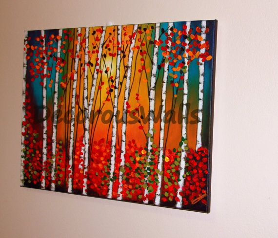 Birch Forest by DecorousWalls on Etsy