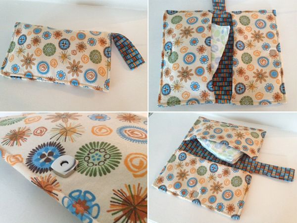 Fun and functional baby shower gift -- a diaper clutch. Easy to make, too, with the tutorial from Sewing Barefoot.