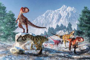 Digital Art - Allosaurus Pack by Daniel Eskridge