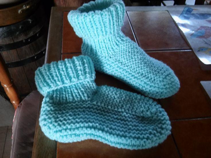 Chaussons douillets adultes | Chaussons au tricot