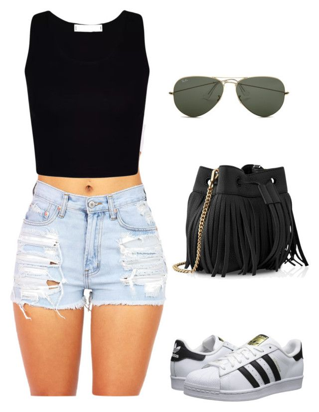 """DAY 2"" by andrea-levander on Polyvore featuring Ray-Ban, Whistles and adidas Originals"
