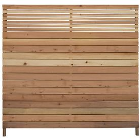 6-ft x 6-ft Cedar Flat-Top Wood Fence Panel on Lowes.com