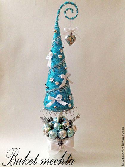 Новый год 2016 ручной работы. Ярмарка Мастеров - ручная работа. Купить Сизалевая елочка с конфетами. Handmade. Новый год 2014