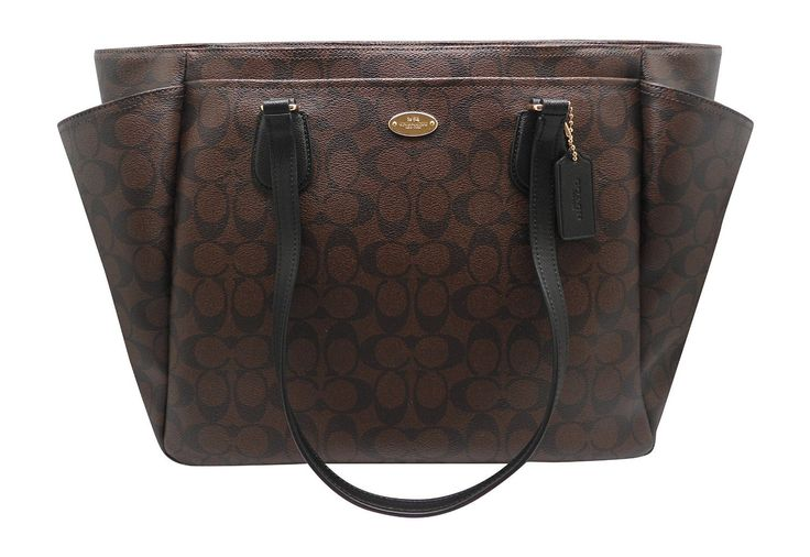 Coach F35414 Baby Diaper BAG in Signature Canvas Brown Black