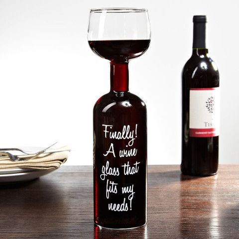 Giant Wine Bottle Wine Glass - I know a few people who could use this