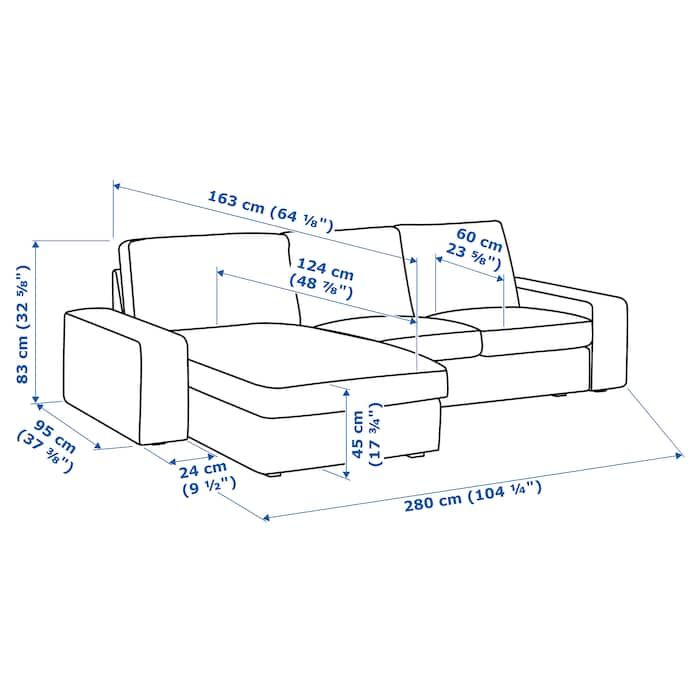 Dimension Chaise Standard