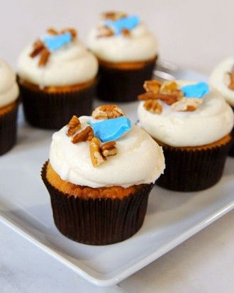"""See the """"Hummingbird Cupcakes"""" in our Blue Baby Shower Desserts gallery"""