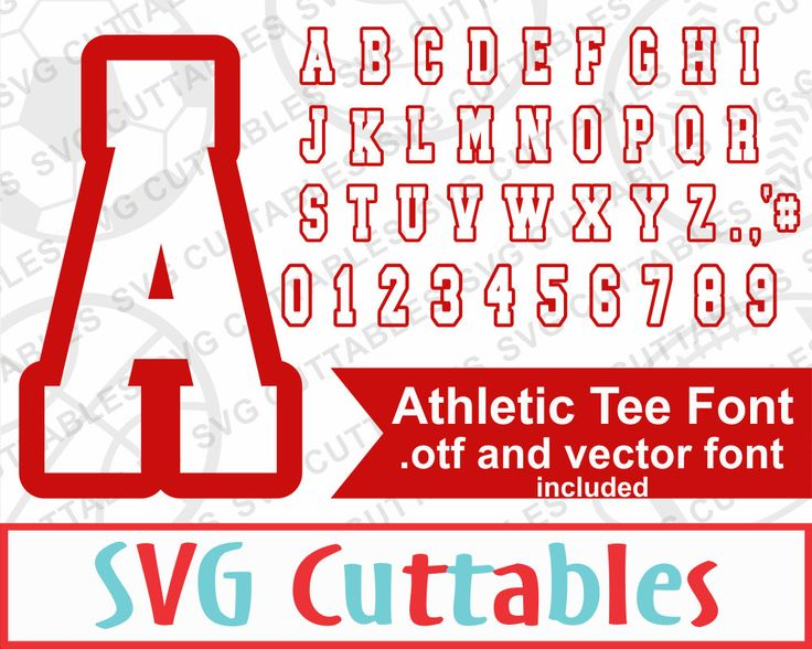 Athletic Sport Font, SVG, EPS, DXF, Sport Alphabet, Athletic Tee Font, Digital Cut File by SVGCUTTABLES on Etsy