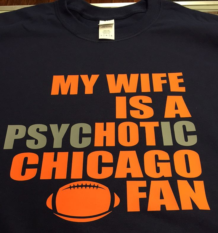 There's a fine line between Psychotic and PsycHOTic but this shirt is sure to turn some heads. Navy shirt with orange and grey writing. Hey, we can even change it to Husband (just let us know). OR eve