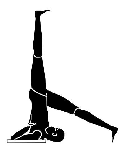 eka pada sarvangasana  yoga asanas  pinterest