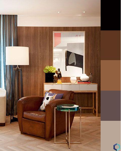 sofá marrom combina com oque - monocromático