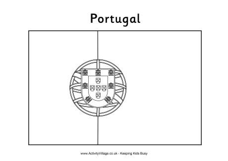 Portugal flag to color w Henry