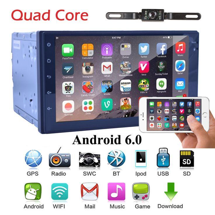 Quad Core 2Din Android 6.0 Car DVD Player GPS Navi Auto Stereo Radio WiFi 3G+CAM | eBay Motors, Parts & Accessories, Car Electronics | eBay!