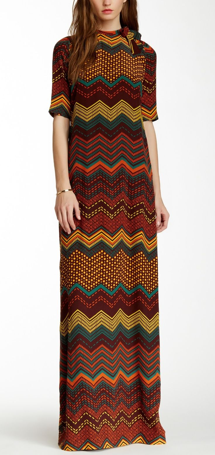 Gorgeous M Missoni Printed Silk Maxi Dress