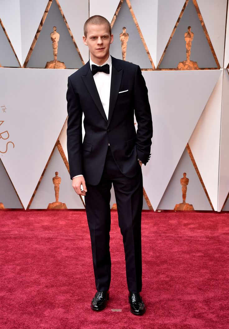 Lucas Hedges in Dior Homme, wearing a Montblanc timepiece