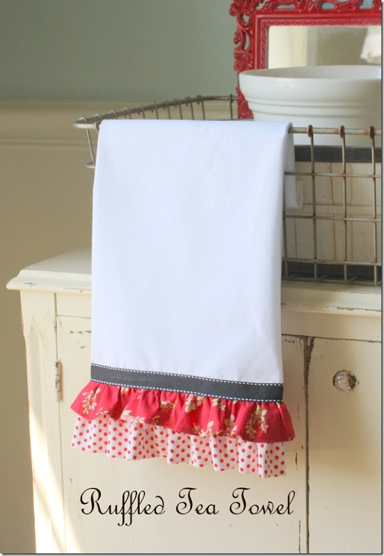 adorable ruffled kitchen towel.....