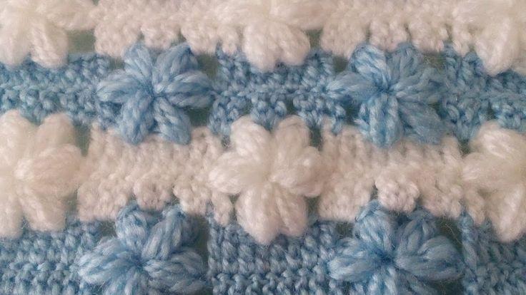 Çiçekli Bebek Battaniye Yapılışı