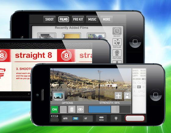 Straight 8: the film making app for iOS film makers, photographers and anyone who wants to shoot, edit and complete their entire film, up to 3 minutes in length right on their iPhone 4s or iPhone 5 and share it with friends and the straight 8 community l #freeapp