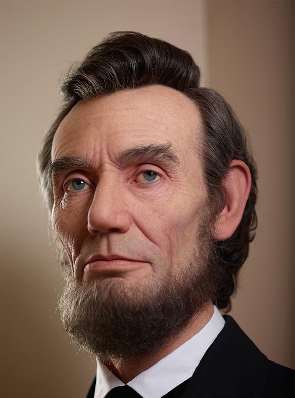 Portrait of Lincoln by Kazuhiro Tsuji at Ronald Reagan Presidential Foundation & Library