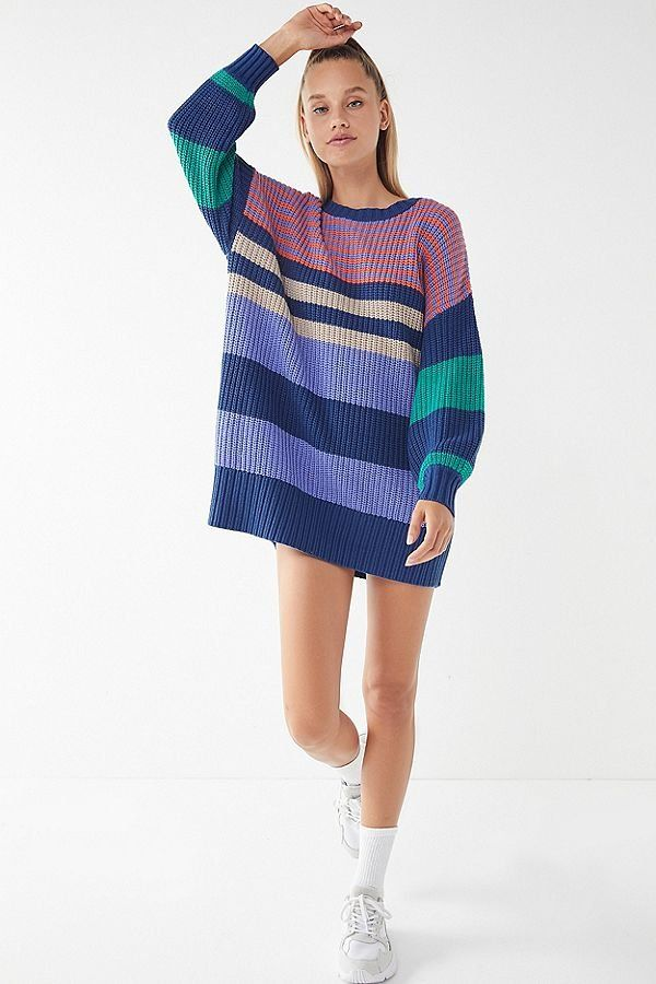 1fe7b8a2c0d2 Slide View  4  UO Whistler Striped Sweater Dress