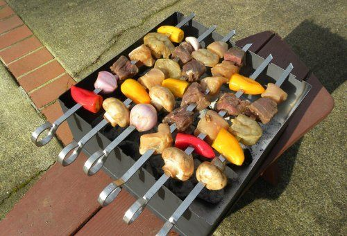 The Barbecue Box (2 SETS) - FREE STANDARD SHIPPING IN USA by Super Skewer. $325.00. It is a clever, simple, easy to use, all-in-one kitchen. The BBQ Box comes with: 4 skewers, 2 hot pads, 1 cooking rack and 1 lid. It is a clever, simple, easy to use, all-in-one kitchen. The BBQ Box comes with: 4 skewers, 2 hot pads, 1 cooking rack and 1 lid - Kabob with the skewers - Put the skewers through the lower slots, place the rack on the skewers and use the BBQ Box to bake your...