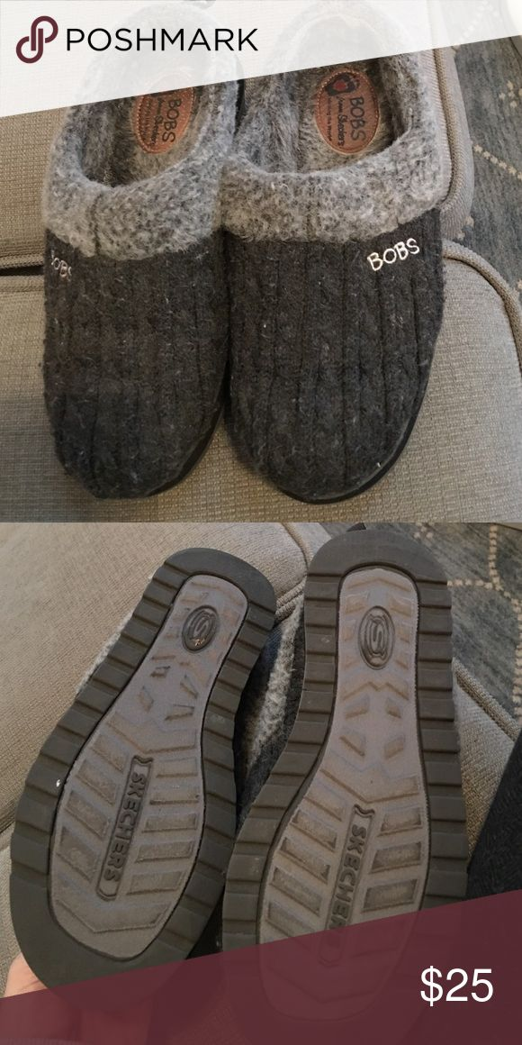 BOBS sketchers slippers Grey BOBS sketchers slippers. Great condition. Only used a handful of times Skechers Shoes Slippers