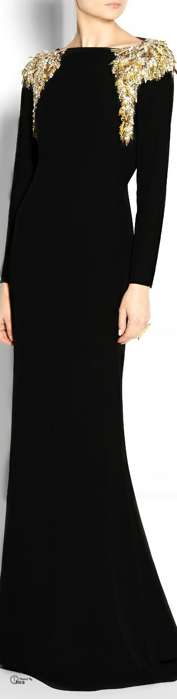 #Modest doesn't mean frumpy. #DressingWithDignity www.ColleenHammond.com  Alexander McQueen ● Embellished crepe gown
