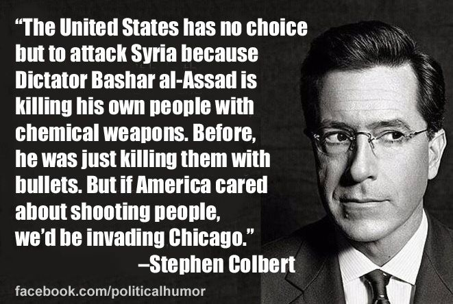 Stephen Colbert breaks down the Syria situation.