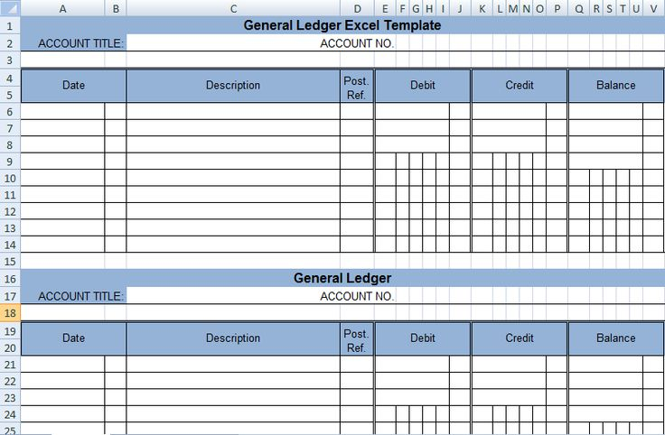 Get General Ledger Template in Excel XLS   ExcelDox