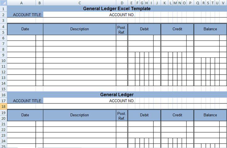 get general ledger template in excel xls