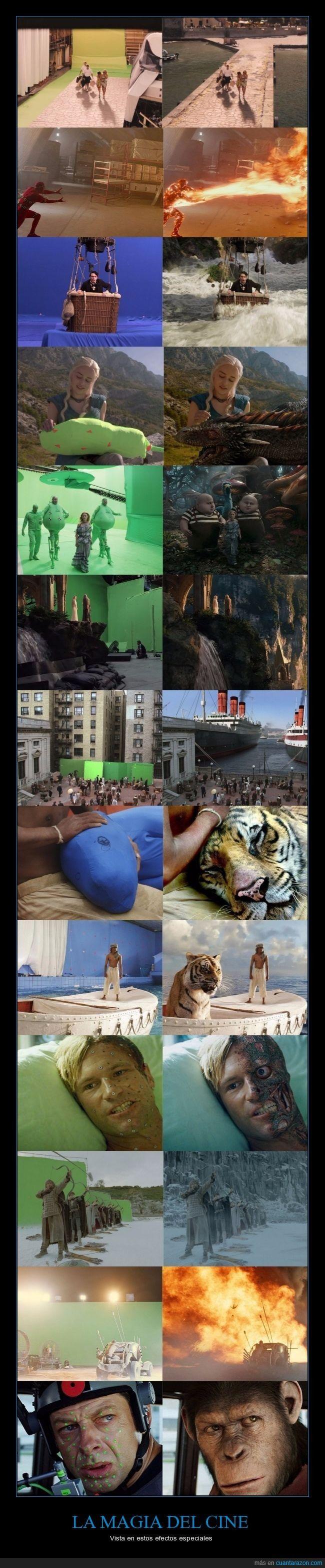 15 fotos del antes y el después que demuestran el poder de los efectos especiales en el cine - Vista en estos efectos especiales