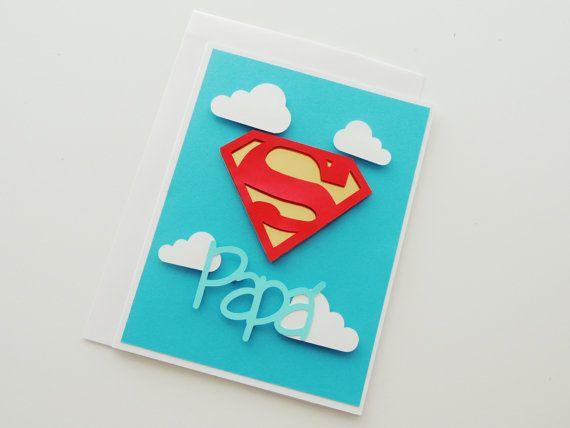 Tarjeta de Día del Padre Super Papa Super por CorazonesdePapel