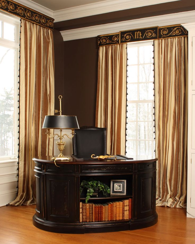 Sitting Room Desk: A Kidney Shaped Desk With Handpainted Details Nestles  Into A Corner Of The Master Suite Sitting Room, Creating A Second Home Office  Area. Part 63