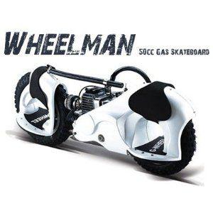Wheelman motorized skateboard.