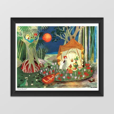 Moomin poster - The Secret Island