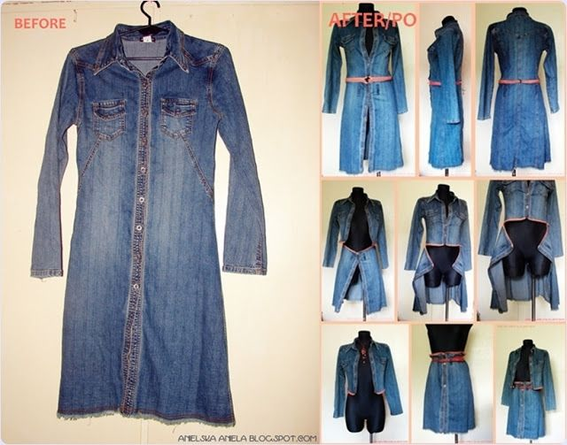 jacket refashion diy